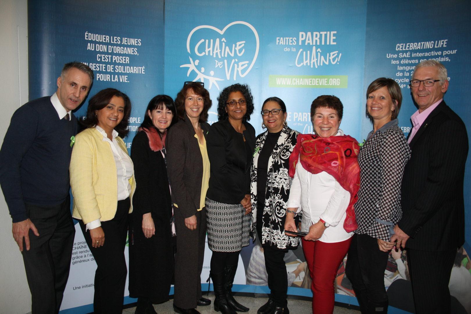 comité organisateur de l'événement de sensibilisation au don d'organes