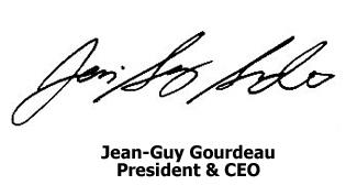 Jean-Guy Gourdeau, President & CEO