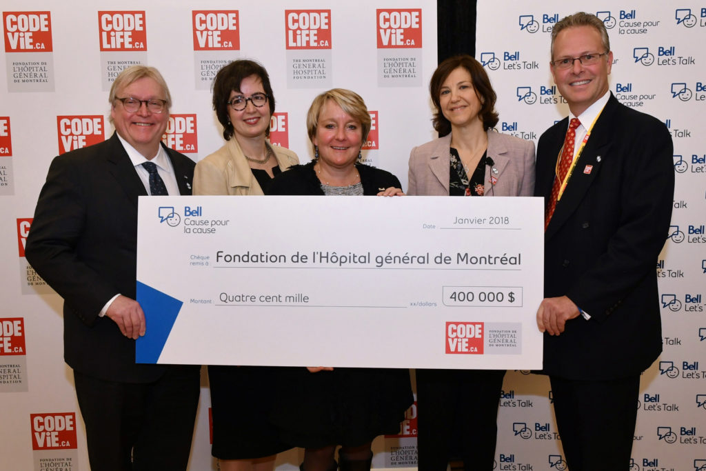 Bell Let's Talk gives $400,000 to Code Life: The Montreal General Hospital Foundation