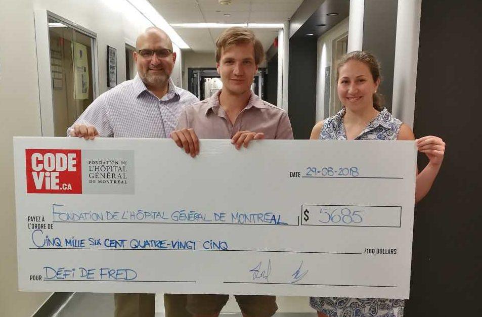 Frédéric surpassed his fundraising goal!