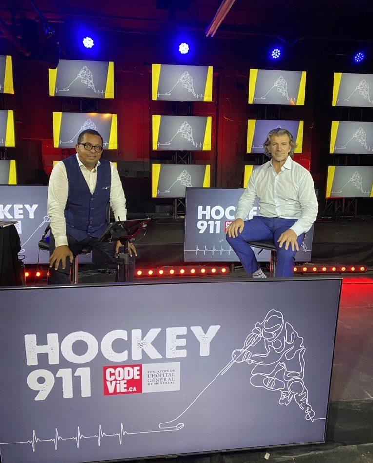 Hockey 911 : Gregory Charles et Marc Bergevin en studio